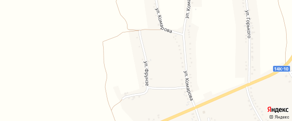 Улица Фрунзе на карте села Камызино с номерами домов