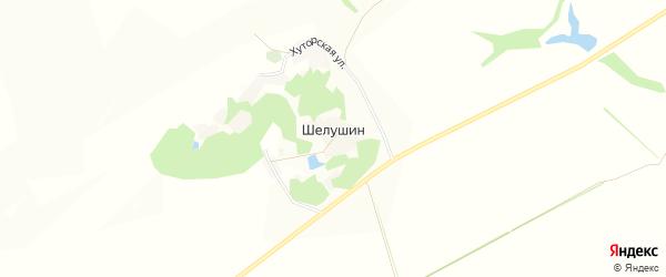 Карта хутора Шелушина в Белгородской области с улицами и номерами домов