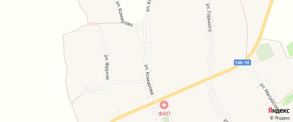 Улица Комарова на карте села Камызино с номерами домов
