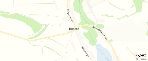 Карта хутора Власова в Белгородской области с улицами и номерами домов