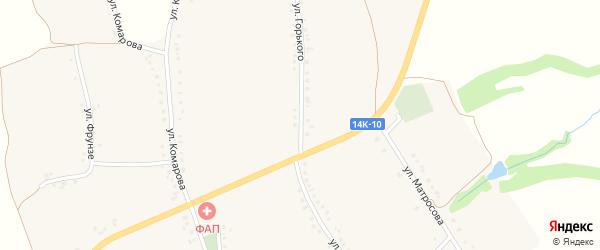 Улица Горького на карте села Камызино с номерами домов
