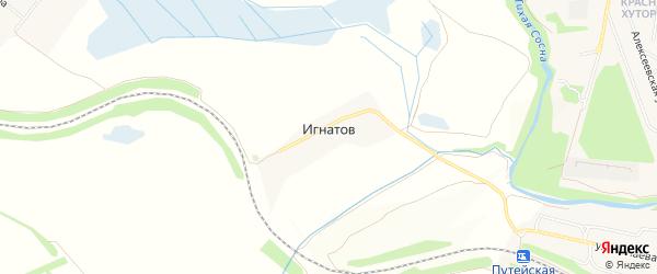 Карта хутора Игнатова в Белгородской области с улицами и номерами домов