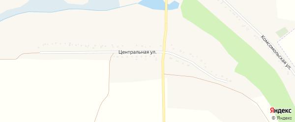Центральная улица на карте села Белого Плеса с номерами домов