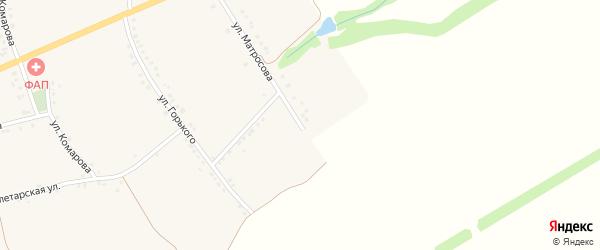 Улица Матросова на карте села Камызино с номерами домов