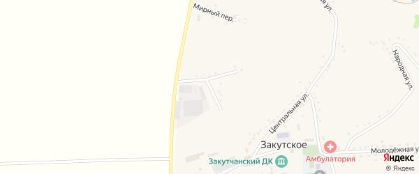 Тихий переулок на карте Закутского села с номерами домов