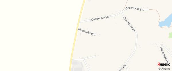 Мирный переулок на карте Закутского села с номерами домов