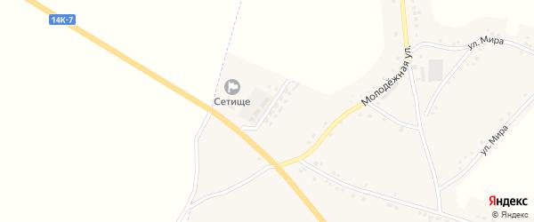 Солнечная улица на карте села Сетище с номерами домов