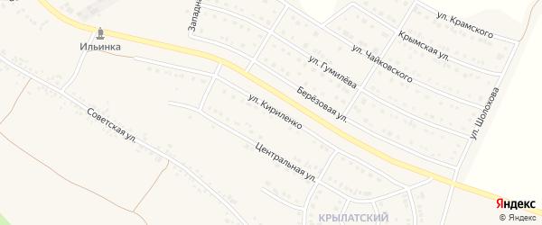 Улица Кириленко на карте Алексеевки с номерами домов