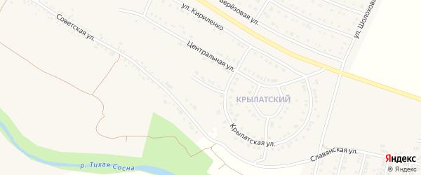 Крылатский переулок на карте Алексеевки с номерами домов