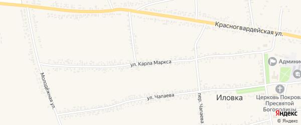 Улица Карла Маркса на карте села Иловки с номерами домов