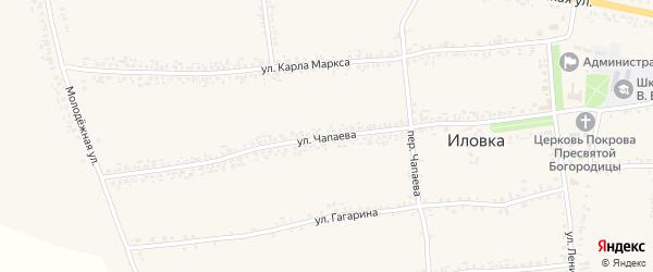 Улица Чапаева на карте села Иловки с номерами домов