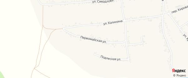 Первомайская улица на карте села Иловки с номерами домов