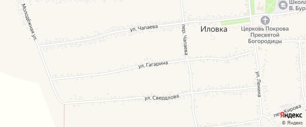 Улица Гагарина на карте села Иловки с номерами домов