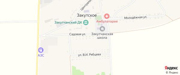 Садовая улица на карте Закутского села с номерами домов