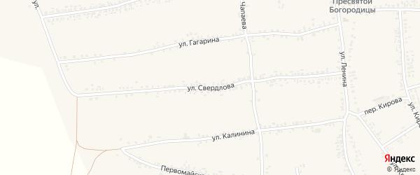 Улица Свердлова на карте села Иловки с номерами домов