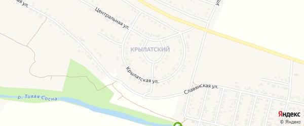 Манежная улица на карте Алексеевки с номерами домов