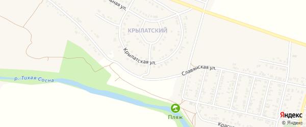 Крылатская улица на карте Алексеевки с номерами домов