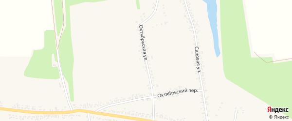 Октябрьская улица на карте села Иловки с номерами домов