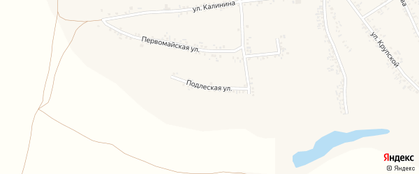 Подлеская улица на карте села Иловки с номерами домов
