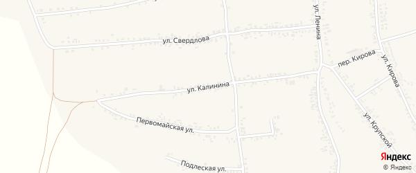 Улица Калинина на карте села Иловки с номерами домов