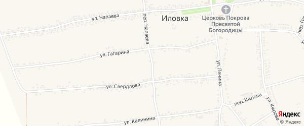 Переулок Чапаева на карте села Иловки с номерами домов