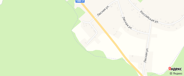 Лесной переулок на карте села Сетище с номерами домов