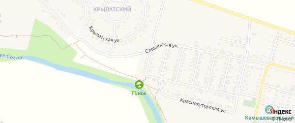 6-й Славянский переулок на карте Алексеевки с номерами домов