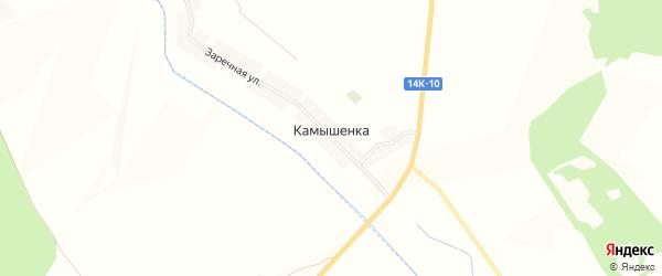 Карта села Камышенки в Белгородской области с улицами и номерами домов