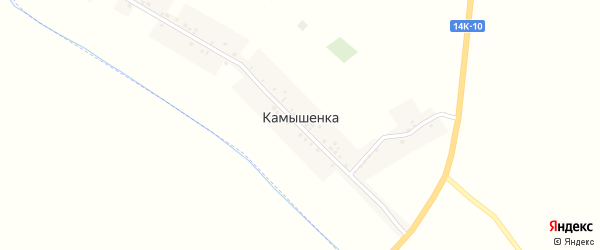 Заречная улица на карте села Камышенки с номерами домов