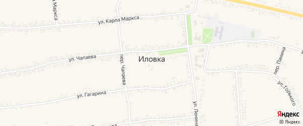 Октябрьский переулок на карте села Иловки с номерами домов