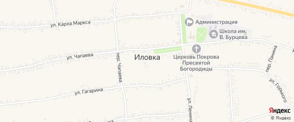 Переулок Калинина на карте села Иловки с номерами домов