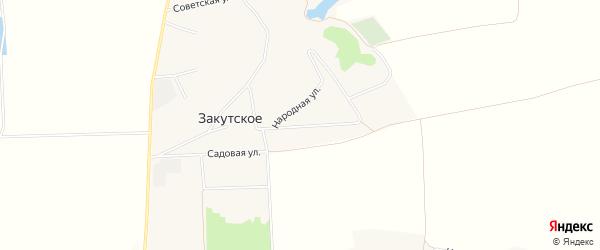 Карта Закутского села в Белгородской области с улицами и номерами домов
