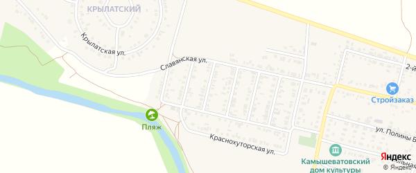 4-й Славянский переулок на карте Алексеевки с номерами домов
