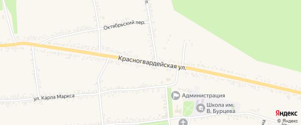 Красногвардейская улица на карте села Иловки с номерами домов