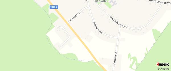 Лесная улица на карте села Сетище с номерами домов