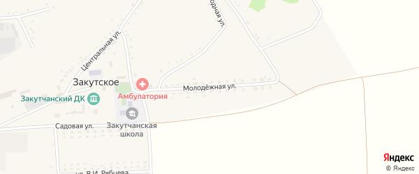 Молодежная улица на карте Закутского села с номерами домов