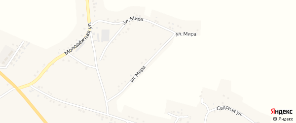 Улица Мира на карте села Сетище с номерами домов