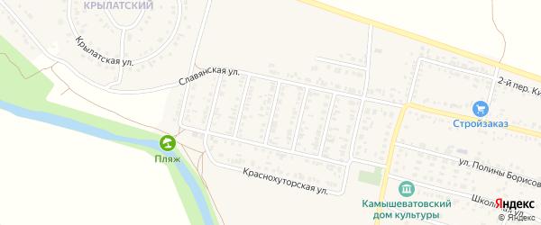 Кирова 3-й переулок на карте Алексеевки с номерами домов