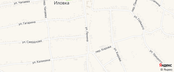 Улица Ленина на карте села Иловки с номерами домов
