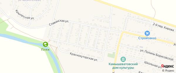 2-й Славянский переулок на карте Алексеевки с номерами домов