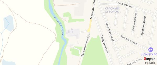 Краснохуторской тупик на карте Алексеевки с номерами домов