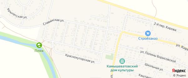 1-й Славянский переулок на карте Алексеевки с номерами домов