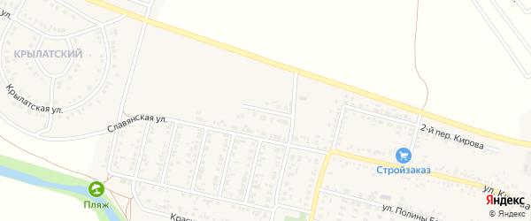 7-й Славянский переулок на карте Алексеевки с номерами домов