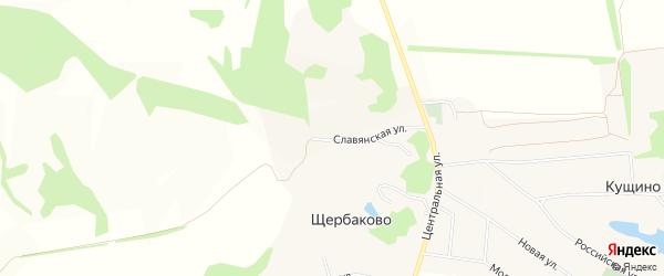 Карта села Щербаково в Белгородской области с улицами и номерами домов