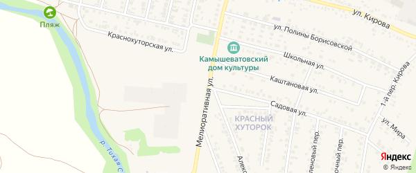 Мелиоративная улица на карте Алексеевки с номерами домов