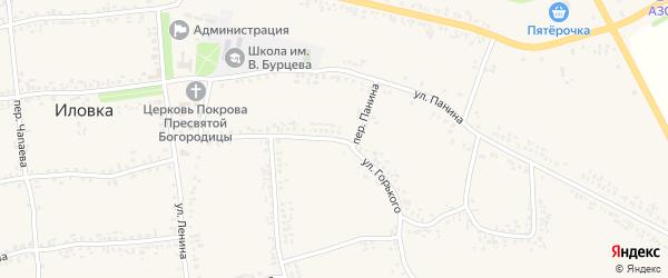 Улица Горького на карте села Иловки с номерами домов