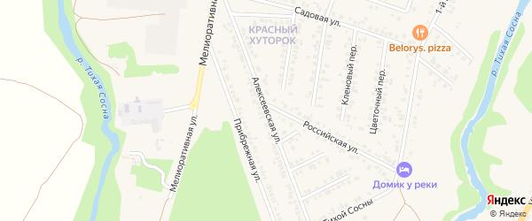 Алексеевская улица на карте Алексеевки с номерами домов