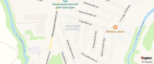 Зеленый переулок на карте Алексеевки с номерами домов