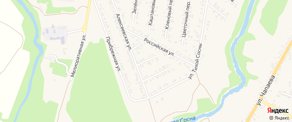 Ягодный переулок на карте Алексеевки с номерами домов