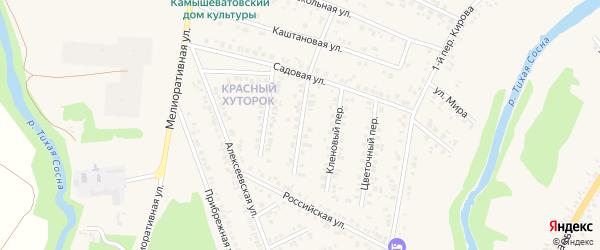 Каштановый переулок на карте Алексеевки с номерами домов